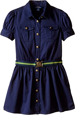 Tissue Chino Shirtdress (Big Kids)