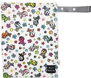 """Itzy Ritzy Sealed Wet Bag With Adjustable Handle – Washable, Reusable Wet Bag with Water Resistant Lining Ideal for Swimwear, Diapers, Gym Clothes, Toiletries; Measures 11"""" x 14"""", Mermicorno All Stars"""