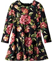 Dolce & Gabbana Kids - City Rose Print Dress (Toddler/Little Kids)
