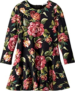 Dolce & Gabbana Kids - City Rose Print Dress (Toddler/Little Kids)