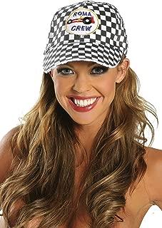 Sexy Women's Race Car Racing Cap Costume Accessory Black/White