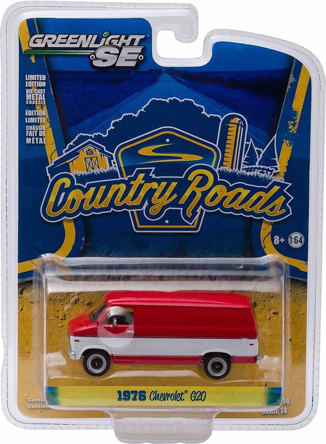 1976 CHEVROLET G20 VAN  Country Roads Series 14  2016 Greenlight Collectibles 1 64 Scale DieCast Vehicle by Greenlight