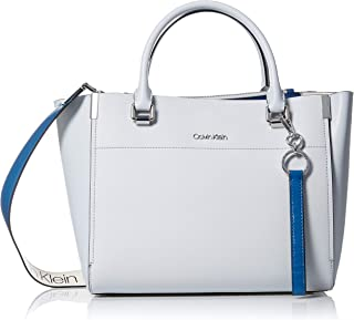 Calvin Klein womens Calvin Klein Raelynn Saffiano Leather Organizational Satchel