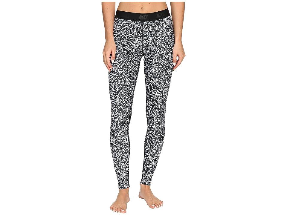 Nike Golf Print Tights (White/Black/Metallic Silver) Women