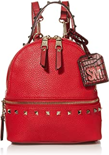 Steve Madden womens Steve Madden JOE Mini Backpack, Red, 7.5 L x 3.75 D 8.25 H US