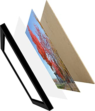 Medog 11x14 Photo Picture Frames Black without Mat to Display Pictures 11 by 14 Inch 8x10 9x11 8x10 7x11 with Mat(not include