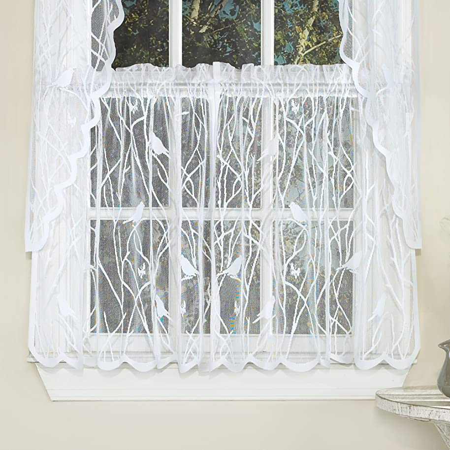 Sweet Home Collection Kitchen Window Tier, Swag, or Valance Curtain Treatment in Stylish and Unique Patterns and Designs for All Home Décor, 24