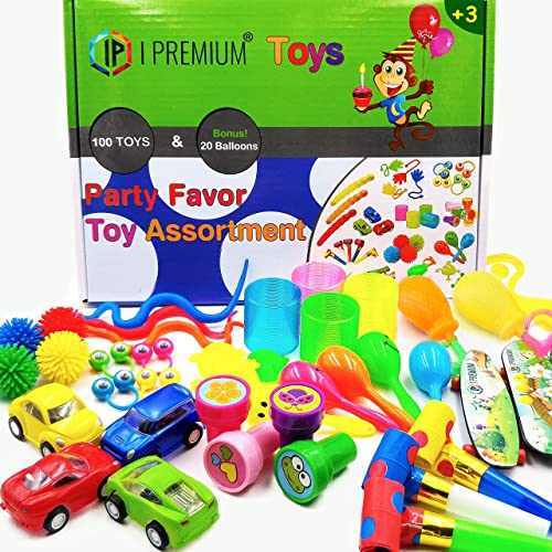 I Premium Party Favor Toy Assortment In Big 120 Pack Favors For Kids