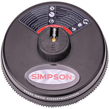 """Simpson Cleaning 80165, Rated Up to 3700 PSI Universal 15"""" Steel Surface Scrubber for Cold Water Pressure Washers, Plain"""