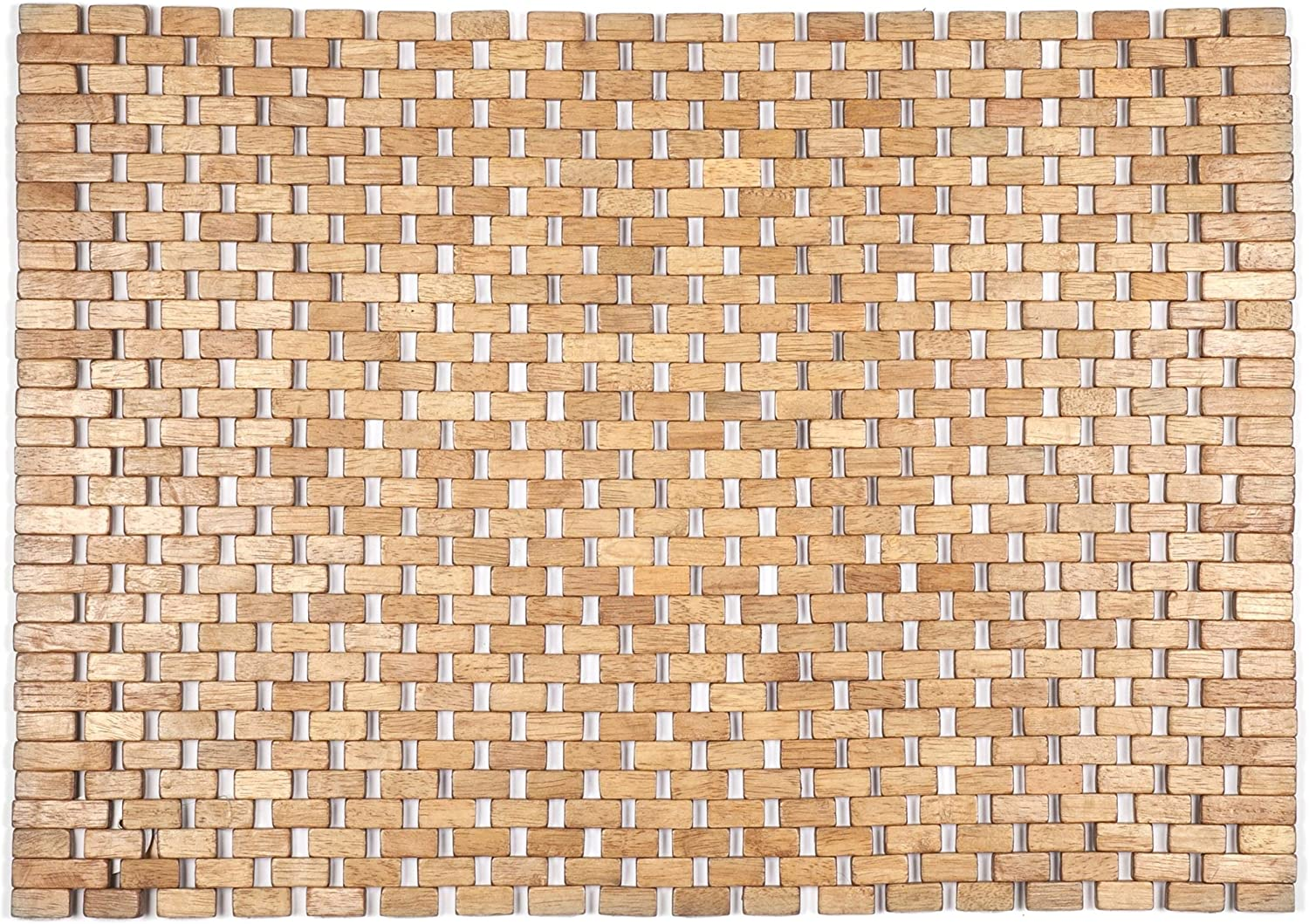 Entryways Roosevelt Exotic Wood Mat, Brown