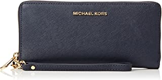 Michael Kors 32S5GTVE9L-414 Leather Continental Wristlet, Admiral, One Size