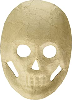 Darice Paper Mache Skull Mask - 8.5 inches