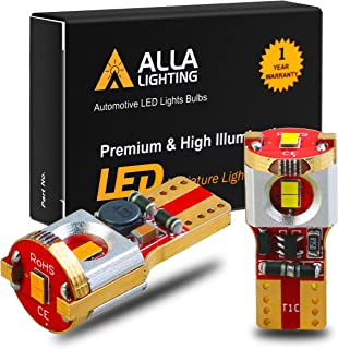 Alla Lighting Newest 194 LED Bulbs Super Bright T10 175 168 2825 W5W ZES SMD 12V LED Bulbs for Car License Plate Tag Interior Map Dome Trunk Courtesy Lights, Amber Yellow