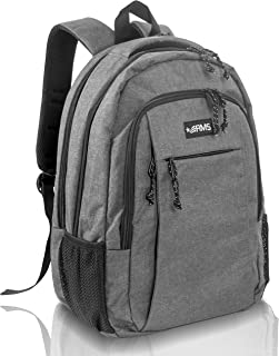 Travel Backpack for School or Business - Anti Theft Laptop backpacks for Men, Women or Students - Fits Up to 15.6 inch Notebook (Gray)