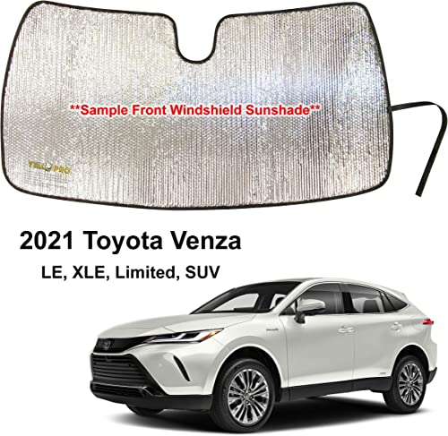 2021 YelloPro Custom Fit Front Windshield Reflective Sunshade for 2021 wholesale Toyota Venza, LE, XLE, outlet sale Limited, SUV, Sun Shade Protector Accessories [Made in USA] online