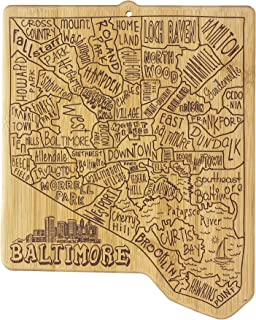 Totally Bamboo 20-8046BAL Baltimore City Cutting Board, Brown