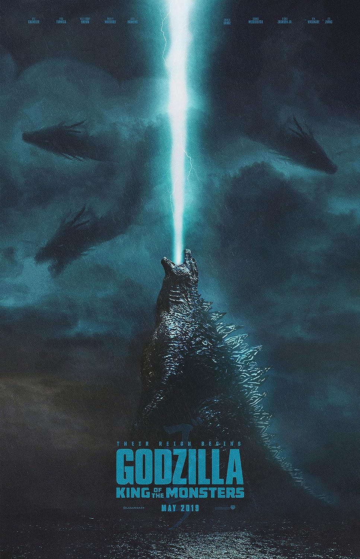 schwarz Creations Godzilla King of The Monsters 8 Poster Leinwandbild Kunstdruck Premium Qualitt A0 A1 A2 A3 A4 (A0 Leinwandbild (76 101cm))