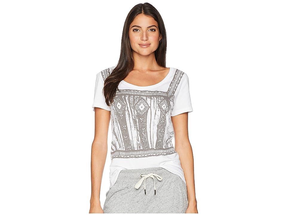 Hanky Panky Organic Cotton Screen T-Shirt (White/Pewter) Women's T Shirt