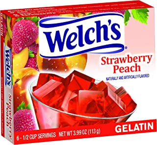 Welch's Strawberry Peach Gelatin, 3.99 Ounce (Pack of 12)