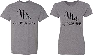 Mr. - Mrs. Personalized Couple Matching Shirts Married Custom Valentines Day