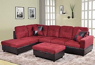 Amazon.com: Red - Living Room Sets / Living Room Furniture: Home ...