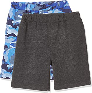 Kid Nation Kid's Lightweight French Terry 2 Packs Solid French Terry Casual Shorts