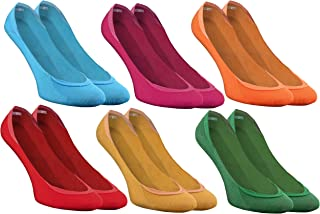 Rainbow Socks, Mujer Hombre Coloridos Calcetines Ballerina Invisibles