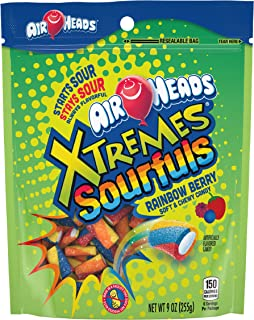 Airheads Bites, Stand Up Bag, Fruit, Party, 9 oz (Bulk Pack of 12)
