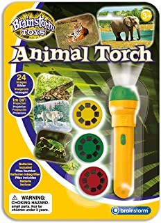 brainstorm BSE2012 Plastic Torch & Projector, Animal Green/Yellow