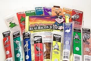 17 Piece Buffalo Bob's Exotic Jerky Gift Assortment with Jeff's Famous Shiracha Bacon Jerky