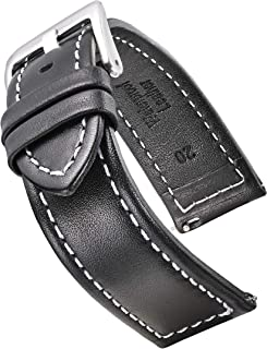 Genuine Waterproof Leather Watch Band with Quick Release Spring Bars - Leather Watch Strap 18mm, 20mm, 22mm, 24mm - Black, Brown