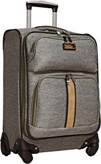 """Nicole Miller Cameron Collection 20"""" Expandable Carry On Luggage Spinner"""