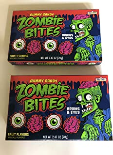 Treat Street Zombie Bites Brains and Eyes Gummy Candy- 2 Boxes