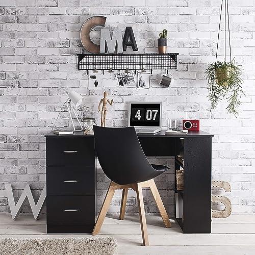 Meuble de bureau - 3 tiroirs et 3 étagères - Laura James