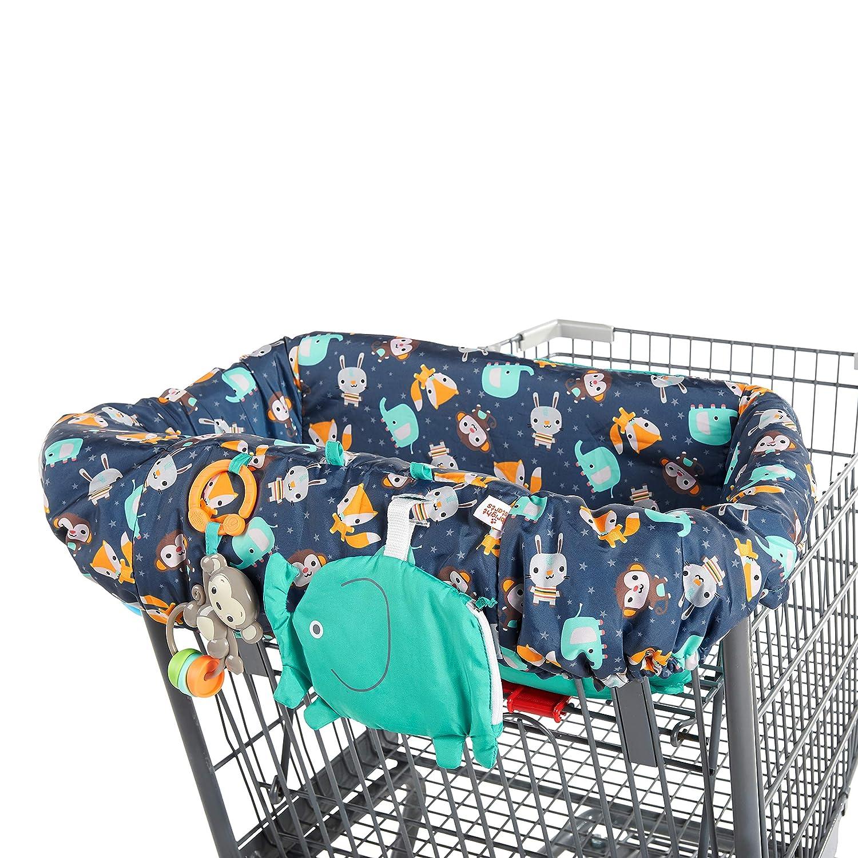 Bright Starts 2-in-1 Ultra Cozy Cart Cover - Animal Spree