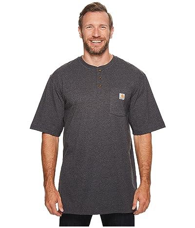 Carhartt Big Tall Workwear Pocket S/S Henley (Carbon Heather) Men