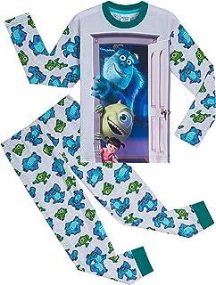 Pijama para niños con motivo de Monstruos, S.A., 2 piezas, Pijama de algodón suave para niños con personajes Sully, Boo y Mike, regalos para niños adolescentes de 2 a 14 años