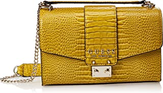 GUESS Womens Cross-Body Bag, Yellow - CG743521