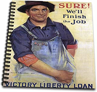 3dRose Vintage Sure Well Finish The Job Victory Liberty Loan Poster-Memory Book, 12 by 12
