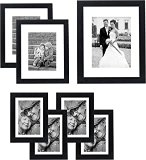 Americanflat 7 Pack Gallery Wall Set - Includes: One 11x14 Frame, Two 8x10 Frames