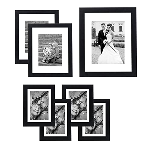 fb3ca1eb242 Americanflat 7 Pack Gallery Wall Set - Includes  One 11x14 Frame