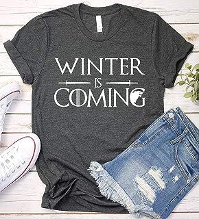 Winter Is Coming T-Shirt, GOT Thrones Shirt TV Shov Game Tshirt Long Sleeve, Short Sleeve, V-Neck, Sweatshirt, Hoodie