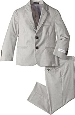 Calvin Klein Kids - Two-Piece Stretch Tick Weave Suit (Little Kids)