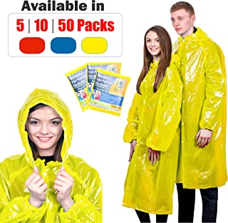 KeepDry! Extra Thick Disposable Emergency Rain Ponchos ~ Premium Quality, Lightweight, Waterproof & Tear Resistant ~ for Hiking, Tours, Sightseeing, Disney, Festivals