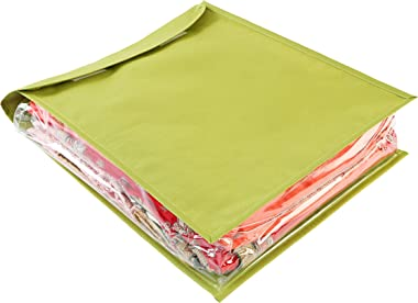 My Gift Booth Nylon Saree Cover, Lime Green, 43 cm x 31 cm x 15 cm, MGBNEW 489