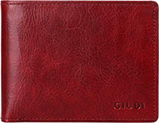 Giudi Deluxe Comfortable Bifold Men's Wallet Made in Italy – 12 Business Credit Card Holder – ID Window - Soft Touch Genuine Cow Leather - Excellent Gift in Attractive Packaging