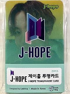 J-HOPE ジェイホープ - BTS 防弾少年団 グッズ / 透明 フォトカード 25枚セット - TRANSPARENT CARD 25pcs [TradePlace K-...