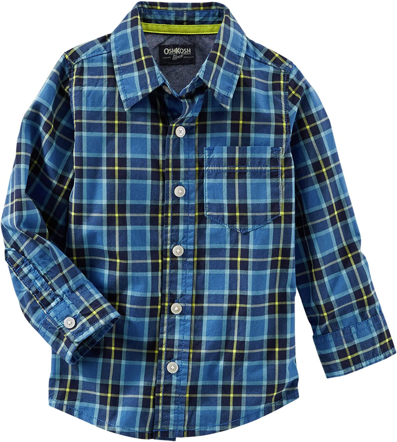 OshKosh Max 85% OFF Baby Boy's Button-Front Plaid Cash special price Shirt