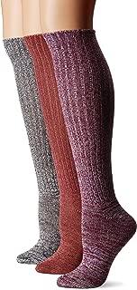 Muk Luks Women's 3 Pair Pack Marl Knee High Socks