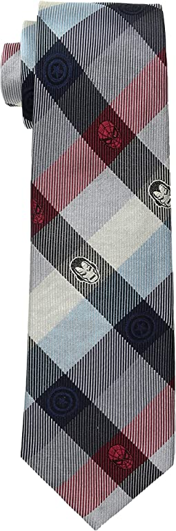Marvel Comics Plaid Tie